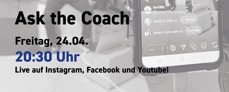 Ask the coach #6: Handball Edition am Freitag, 24.04.2020, 20:30 Uhr