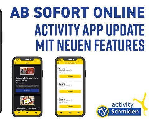 AB SOFORT ONLINE: activity App Update