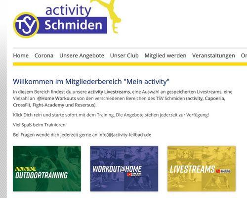 """Mitgliederbereich """"mein activity"""" überarbeitet"""