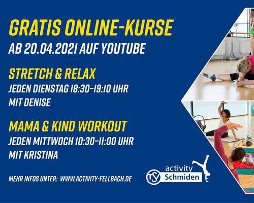 NEUE Kurse im Programm (Mama & Kind und Stretch & Relax)